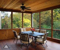 Enclosed Patio Designs Outdoor Wood Ceiling Design With Ceiling Fan Plus Enclosed Patio