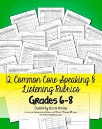 speaking u0026 listening rubrics bundle grades 6 8 by tracee orman tpt