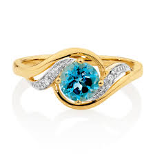 rings topaz images With blue topaz diamonds in 10kt yellow white gold jpg