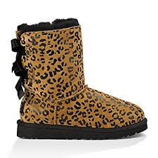 ugg bailey bow sale size 7 amazon com ugg australia bailey bow leopard suede toddler boots