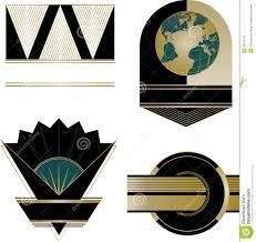 Art Deco Design Elements Art Deco Logos And Design Elements Stock Photo Image 35510140
