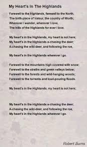 wedding quotes robert burns my heart s in the highlands poem by robert burns poem