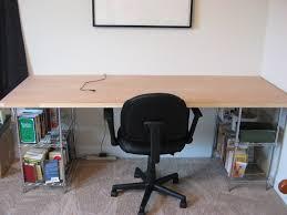 Door Desk Diy It Frugal Leather Chrome Desk