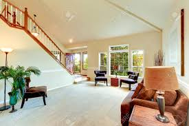 vaulted ceiling living room bright ivory living room with high vaulted ceiling and french