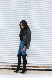 biker style boots how to wear jeans with tall boots the jeans blog