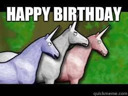 Unicorn Birthday Meme - happy birthday charlie the unicorn quickmeme