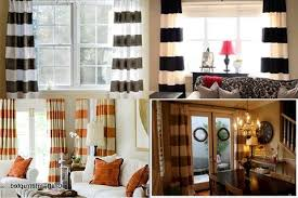 Red And White Striped Curtain Black And White Horizontal Striped Curtains Horizontal Striped