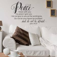 john 14 27 peace i leave with you wall decal a great impression john