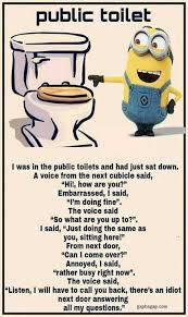 Funny Quotes And Memes - funny minion joke about public toilets funny memes showcase