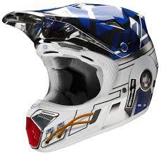 motocross helmet brands fox racing v3 r2d2 le helmet revzilla