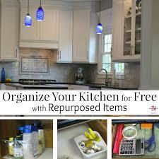 kitchen organize ideas organize your kitchen for free with repurposed items organized 31