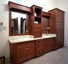 Built In Bathroom Cabinets Custom Built Bathroom Vanity Cherry Vanity In Master Bath In A