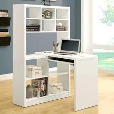 Desktop Bookshelf Ikea South Shore Annexe Work Table And Storage Unit Combo Pure White