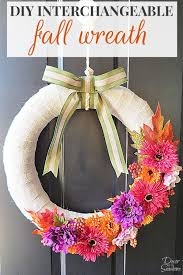 Decorating Your Home For Fall Diy Interchangeable Fall Wreath Decor By The Seashore