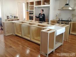 build island kitchen how to build your own kitchen island build a farmhouse style tv