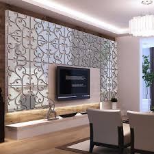 mirror decals home decor removable 32pcs 3d mirror acrylic wall sticker diy art vinyl decal