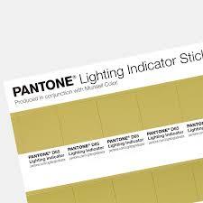 Pantone Yellow by Pantone Lighting Indicator Stickers D65