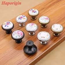 Schlafzimmerschrank Griffe 3x Küchenschrank Schublade Knöpfe Rustikale Keramik Knöpfe