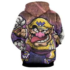 super mario wario madness villain cartoon sketch hoodie u2013 gaming