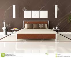 brown modernes schlafzimmer lizenzfreie stockfotografie bild