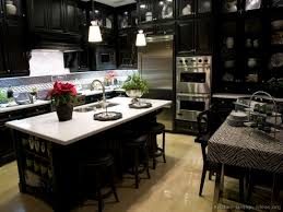 kitchen white and black dark kitchen cabinets with light granite