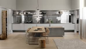 spatia hideaway kitchen with stainless steel back panels glossy
