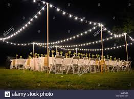 party lights rental usa outdoor wedding reception with party lights at