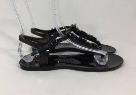 chanel black jelly sandal eu 37 flip luxury consignment