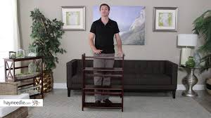 3 tier stackable folding bookcase product review video youtube