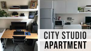 City Studio Apartment Tour 240 Sq Feet 500 Rent Youtube
