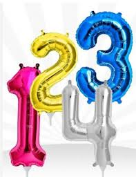 order helium balloons for delivery number shape foil helium inflated balloons