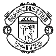 print manchester united logo soccer coloring pages download