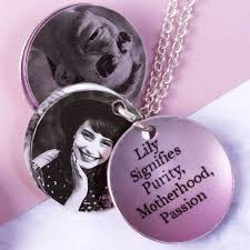 june rose birth flower personalised photo locket necklace gift