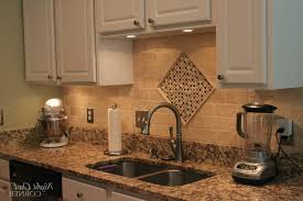 Ideas For Kitchen Backsplash With Granite Countertops by Granite Countertop Typical Height Of Kitchen Cabinets Salt For