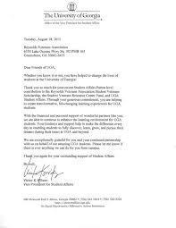 Thank You Letter Veterans uga thank you letters veteran s association