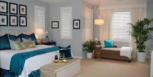 modern blue nuance of the modern cozy bedroom interiors designs