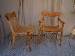Tiger Maple Furniture Hand Made Curly Maple Lyre Dining Chair Set By Bearkat Wood