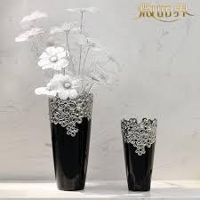tv cabinet table living room floor porcelain vase ornaments black