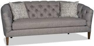 Grey Tufted Sofa by Gray Tufted Sofa Bed Hudson Midcentury Sofa In Dark Gray Linen