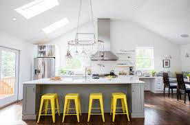 Yellow Bar Table Yellow Bar Stools Kitchen Transitional With Bright Yellow Stools