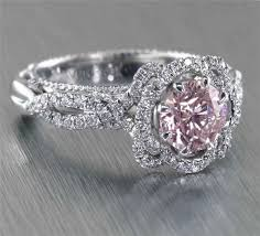 pink wedding rings gold engagement rings with pink diamond pink diamond