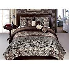 Leopard Bed Set New 7 Pc Size Zebra Leopard Safari