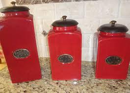 red kitchen canisters kitchen red kitchen canisters red kitchen canisters ebay red