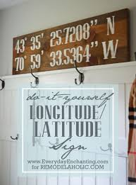 remodelaholic diy reclaimed wood longitude latitude sign