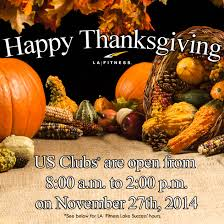 thanksgiving day hours usa for la fitness and klub