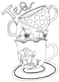 Cup Coloring Page Cup Coloring Page