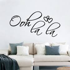Bedroom Wall Art Words Aliexpress Com Buy Ooh La La Words Quotes 8418 Removable Love