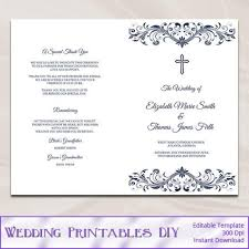 catholic mass wedding programs diy wedding program template booklet templates resume exles
