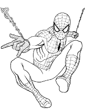 spiderman coloring pages pictures sheets peter parker