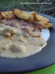 cuisiner une cote de veau cotes de veau a la creme et aux champignons les délices d hélène